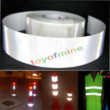 "2""X10' 3M Silver White Reflective Safety Warning Conspicuity Tape Sticker Film"