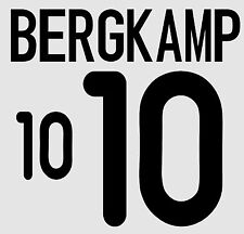 Euro 2000 Bergkamp 10 Home Holland Football Name set  for National shirt