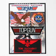 "TOP GUN ""ICEMAN"" FANCY DRESS Iron-On Patch Super Set #136 - FREE POSTAGE!"