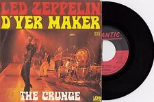 LED ZEPPELIN D'YER MAKER / THE CRUNGE RARE 1973 RECORD FRANCE 7' PS