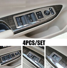 FIT FOR HONDA ACCORD 13- CHROME INTERIOR DOOR WINDOW SWITCH PANEL COVER TRIM
