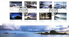 Jersey 2016 FDC Seasons Winter 8v Cover Lighthouses Trees Boats Nature Stamps