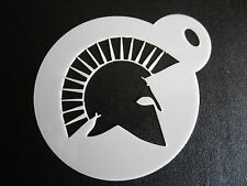 Laser cut small roman helmet design cake, cookie,craft & face painting stencil