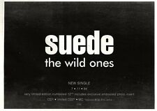 """ARTICLE - ADVERT 5/11/94PGN25 SUEDE : THE WILD ONES SINGLE 7X11"""""""