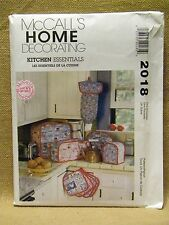 MCCALLS PATTERN 2018 KITCHEN ESSENTIALS COFFEE CAN OPENER TOASTER COVERS UN-CUT