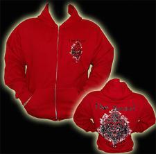 Explosive Fibres Red The Beast Is In Us Full Zip Hoodie: Medium
