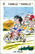 Cyclist Cyclste Cycling Cyclisme SPORT PLAYING CARD CARTE À JOUER HUMOR 60s
