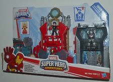 IRON MAN FORTRESS Marvel Playskool Super Hero Adventures Avengers TONY STARK MIP