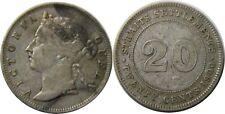 elf Straits Settlements 20 Cents 1900  Victoria