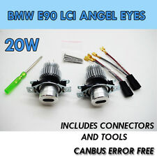 Da 20W BMW E90 LCi Angel Eye Upgrade contrassegno XENON 6000K LED Bianca 3 Series LED 6K