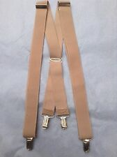 True Vintage 'PCT' Beige German Braces/Suspenders.