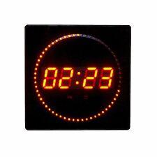 LED Uhr Wanduhr Rund Datum Temperatur Anzeige Digital Datum Bar Café Rot JH3260