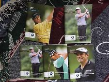 5 x GOLF PROGRAMMES BMW PGA 2008 WENTWORTH WITH VARIOUS AUTOGRAPHS