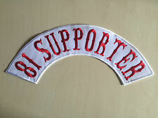 81 Supporter Patch Aufnäher Backpatch Neu 40x9cm MC,81,Kutte,Biker,Chopper