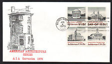 1779-1782 -- Architecture -- First Day cover, Virgil Crow AIA Convention cachet