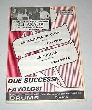Spartiti ORCHESTRA GLI ARALDI Tino Ruffa Liscio orchestra Fisarmonica Ballo