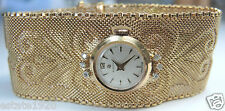 "Antiqure Women's Election Wrist Watch 18KY 15 Jewels D-.12ct  71/4"" 67.7Grams"