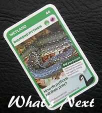 Woolworths   AUSSIE ANIMALS   Card 44/108 WETLAND Diamond Python (Free Post)