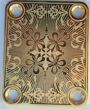 NECK PLATE CUSTOM Shop - dorée - gold - pour Fender strat, tele, bass