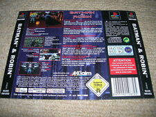 BATMAN & ROBIN – PS1 PAL Rear Box Art Insert Only