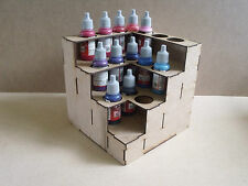 Paint Stand Corner  bottle rack storage warpaint Vallejo warhammer 40k wargames