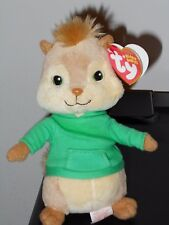 CT * Ty Beanie Baby ~ THEODORE ~ Alvin and the Chipmunks ~ MINT with CREASED TAG