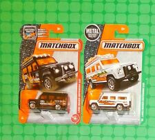 Matchbox -  #84 & #110 -  Land Rover Defender 110 - Lot of 2 - Black & White