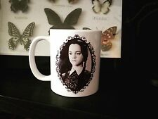 WEDNESDAY ADDAMS COFFEE MUG! addams family goth horror vtg munsters frankenstein
