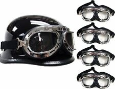 LOT 10~WWII Raf Aviator Motorcycle Moped Helmet Goggles Biker Wholesale