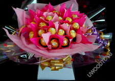 SWEET TREE BOUQUET ~ 30 X FERRERO ROCHER CHOCOLATE DISPLAY ~ PERSONAL MESSAGE ~