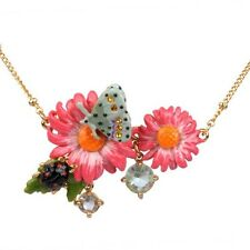 LES NEREIDES CHAMPÊTRE FLOWERS, BEADS & BUTTERFLY NECKLACE