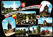 Vom Hermannsdenkmal zur Porta Westfalica ,AK gel.