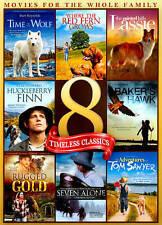 8 Timeless Classics (DVD, 2-Discs) Lassie, Seven Alone, Tom Sawyer, Rugged Gold