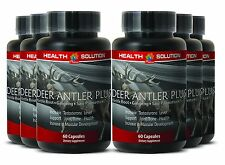 Male Performance Booster Capsules - Deer Antler Plus 550mg - Korean Ginseng 6B