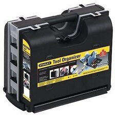 Double Sided Stanley Tool Case Organiser Carry Box Tools Storage Plastic Black