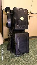 1395M Vtg Monophone Telephone 2 Piece w/Crank Board Mounted Automatic Elec Co