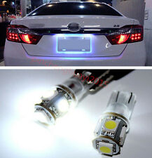 2Pcs NEW 360° 5SMD w5w T10 LED Bulbs Car For License Plate White Lights 12V