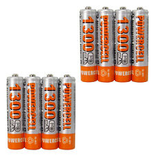 8x AAA 3A cell 1300mAH 1.2V NiMH Recharge Rechargeable Battery