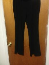 New York and Company Stretch Black Size 10 Average Flare Pants