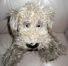 Giant/Large Russ Berrie Shaggy Terrier Puppy Dog FURLY Brown Plush Stuffed 22""