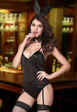 Sexy Women's Black Bunny Fancy Dress Costume