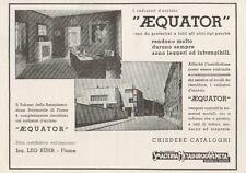 Z1258 Radiatori AEQUATOR - Palazzo Provinciale di Fiume - Pubblicità - 1936 Ad