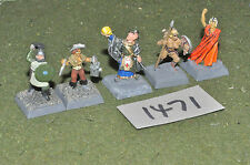 25mm adventurers 5 figures (1471) painted metal