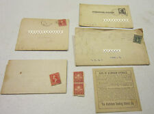 Vint lot of 1908-1909 cards, envlopes, stamps, letters - Salem OHIO