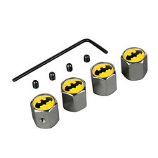 4x Car Wheel Tyre Batman Logo Valve Stem Air Dust Anti Theft Locking Caps Useful