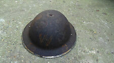 WW2 A.R.P. WARDENS BRODIE TIN HELMET DATED 1938 WITH LINER & CHIN STRAP