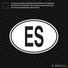ES El Salvador Country Code Oval Sticker Decal Self Adhesive Salvadoran euro
