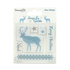 Dovercraft Magic and Sparkle clear Christmas stamps - Reindeer