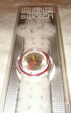 90's 'Royal' Pop Swatch Watch - NEW BOXED - Fake Fur Strap