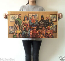 Anime Super hero Collection Poster Kraft Paper Poster Bar Cafe Decorate